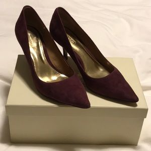 COACH suede shoes - a classic in wine ruby  color